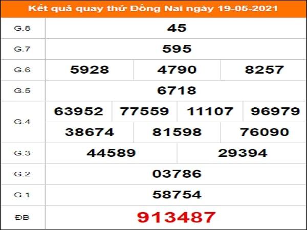 Quay thử Đồng Nai ngày 19/5/2021 thứ 4