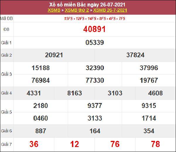 Dự đoán XSMB ngày 27/7/2021 thứ 3 chốt lô VIP miền Bắc